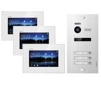 Video Türsprechanlage für 3 Familienhaus, 3x Monitore, Balter EVO