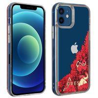 Guess Liquid Glitter Charms Handyhülle für Apple iPhone 12 /12 Pro – Transparent
