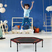 COSTWAY φ 126 cm Mini Trampolin Fitness Trampolin Indoor- und Outdoortrampolin für Erwachsene und Kinder