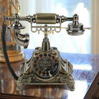 Festnetztelefon Retro Vintage Antik Mobilteil Telefon Desktop Office Dekor Home Dial Phone Haustelefon
