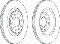 2x FERODO HINTEN Bremsscheibe für AUDI A4 Avant 8ED B7 A4 Avant 8E5 B6