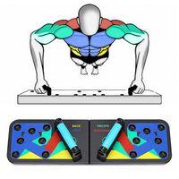 12 in 1 Push Up Board, Faltbare Multifunktionale Liegestütze Brett Fitness Geräte, Gym Home Muscle Builder Liegestützgriffe für Männer und Frauen