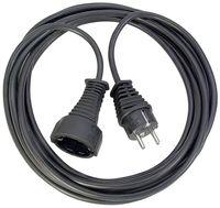 Brennenstuhl Qualitäts-Kunststoff-Verlängerungskabel 25m schwarz H05VV-F 3G1,5, 1165480