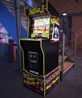 Arcade1Up Street Fighter Capcom Legacy Retro Spielautomat mit 12 original Spielen, Joysticks & Sounds