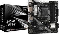 ASRock B450M Pro4-F - AMD - Socket AM4 - AMD Athlon - AMD Ryzen 3 - 2nd Generation AMD Ryzen™ 3 - AM ASRock