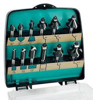 ENT 12-tlg. HW Fräser Set in Kunststoffkassette - Schaft Ø 8 mm