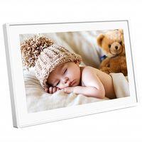 Denver Digitaler Bilderrahmen 25,6cm (10,1 Zoll) Frameo, Farbe: Weiß
