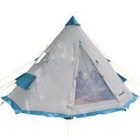 Skandika Campingzelt Tipii 6 Personen (grau) | Partyzelt | eingenähten Zeltboden | 250 cm Stehhöhe | 3.000 mm Wassersäul