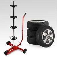 Reifenständer fahrbar mit 3 Rollen Felgenbaum Reifenhalter Felgenhalter Radbremse bis 225er Reifen
