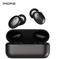 1MORE Wahre drahtlose ANC In-Ear-Kopfhörer mit aktiver Geräuschunterdrückung, duales ANC Mikrofon-Kopfhörerset, Bluetooth 5.0, Kopfhörer mit schneller Aufladung und Ladebehälter - EHD9001TA