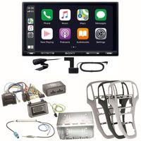 Sony XAV-AX5550D Moniceiver CarPlay Digitalradio USB Einbauset für Opel Astra J, Farbe der Radioblende:Perl-Schwarz