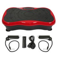 Vibrationsplatte Bluetooth LCD Fitness Abnehmen Fitnessgeräte Oszillierende Trainingsplattform.Schwarz-rot
