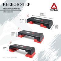 Reebok Step Studio Steppbrett schwarz-rot, RSP-16150