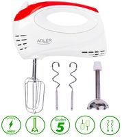 Adler 2in1 Handmixer | Stabmixer | Handrührgerät | Handrührer | Pürierstab | 300 Watt