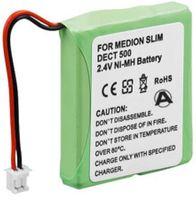 Akku passend für Medion MD81877, Audioline Slim 500, S63006