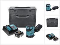 Makita DBO 180 SF1X Akku Exzenterschleifer 18 V 125 mm + 1x Akku 3,0 Ah + Ladegerät + Makbox