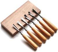Stechbeitel Set,  Schnitzmesser Schnitzwerkzeug Meißel Holzschnitzereien Messer werkzeug set 6 stück