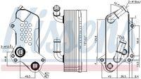 NISSENS Ölkühler Motoröl für OPEL VECTRA C Caravan für SAAB 9-3 YS3F
