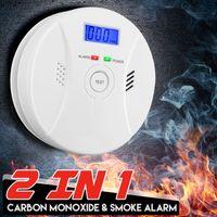 INSKER LCD Alarm CO Gasmelder Gaswarner Rauchmelder Melder Detektor Kohlenmonoxid Gas