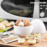 GKA Eierkocher für die Mikrowelle 4 Eier Maker Kocher mit Rezepten Microwave Egg