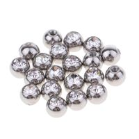 20er Piercing Kugel Schraub Ersatzkugel Piercingschmuck-Ersatzball aus Hochwertigem Edelstahl Silber 1,6 x 5 mm