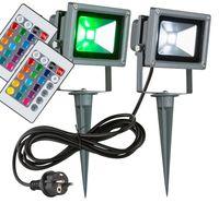 2er Set RGB LED Leuchten für den Außenbereich