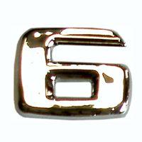 3D-Relief-Chrome-Zahl 6