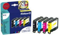 Pelikan wiederbefüllte Multi Pack Tinte 4110 ersetzt brother LC 123BK/C/M/Y