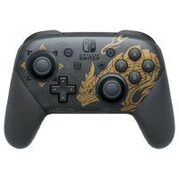 Nintendo Pro Controller Monster Hunter Rise Edition Schwarz, Gold Bluetooth Gamepad Analog / Digital Nintendo Switch