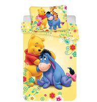 Disney Baby Kinder Bettwäsche Winnie Pooh gelb bunt 135x100 60x40