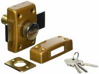 Abus CLK CB 40 B C Schloss mit Zylinder und Knopf, 40 mm, bronzefarben - 019128