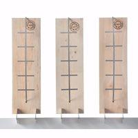 acerto® - 3x Flammlachsbrett aus Buche - 3 Stufen einstellbar - Lachs bis 1,5kg - Original Flamm-Lachsbrett Lachsflammbrett für echten Feuerlachs