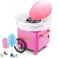 JEOBEST Zuckerwattemaschine | kleine Warenkorb Mini Zuckerwatte-Maschin | Retro Rosa 500W