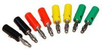 Bananenstecker-Set McPower, 4mm, Querloch, Druckfeder, 4 Farben, 8-teilig