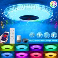 DIMMBAR 72W RGB Deckenlampe Deckenleuchte Musik bluetooth Alexa/Google Home