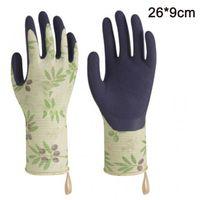 Herren Gartenhandschuhe rutschfest Gartenschneiden Sicherheit Arbeitshandschuhe Leder Damen dornsicher Unterarm lang und kurz