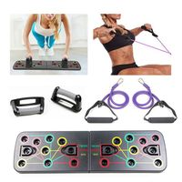 Multifunktionsklappbares Push-Up-Board-System mit Widerstandsrohrband Pull Rope Bodybuilding-Training Workout-Push-Up-Stand-Board