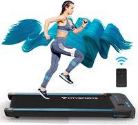 elektrische Laufmaschine,440W Motor,eingebaute Bluetooth-Lautsprecher für Laufbänder, einstellbare Geschwindigkeit, LCD-Bildschirm und Kalorienzähler, ultradünn und geräuschlos, für Heim / Büro (blau)