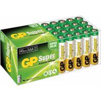 GP Super AAA-Alkalibatterien 40 Stk. 1,5 V 03024AB40