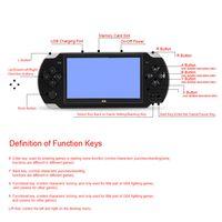 Handheld Console 8 GB 4,3-Zoll-Pocket-Player mit 200 klassischen 1,3-Megapixel-Kamera-Unterstuetzung fuer Video- und Musikwiedergabe
