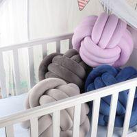 Knotenkissen Knot Kissen Kopf-Kissen inkl boogift Pl/üsch-Kisse F/üllung Nordische kleines Deko-Kissen Baby Bett Zimmer Dekor Spielzeug,Rund 25 cm x 25 cm Pink