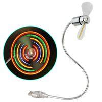 Hama USB Ventilator mit bunten LEDs Laptop/ Notebook Zubehör flexibel USB Fan