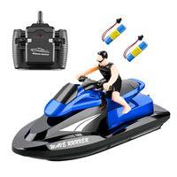 Fernbedienung Boot Pool Spielzeug 8 Jahre alten Jungen blau 2 Batterie