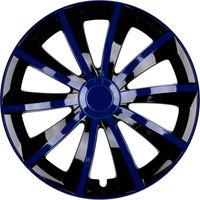 4x PREMIUM DESIGN Radkappen Radzierblenden Blenden Gral 15 ZOLL #51 Blau Schwarz