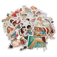 Hochwertige Pin Up Vinyl Aufkleber | div. 60s Motive | 50 Stück