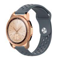 Ersatzarmband für Samsung Galaxy Watch Active 2 Gear S2 Sport Classic Lifestyle-Armband Silikon Schadstofffrei Grau