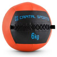 CAPITAL SPORTS Epitomer - Medizinball , Wall Ball , Fitness Ball , Krafttraining , Ausdauertraining , Functional Training , vernähtes Kunstleder , griffige Oberfläche , Farbe: orange , Gewicht: 6 kg