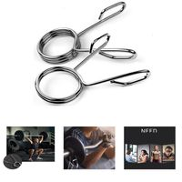 Hantelstangen Hantelverschluss, 1 Paar Kurzhantelstange Fitness Stange Hantelverschluss 2 '' Durchmesser Federverschluss