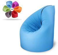 Sitzsack 2 in 1 Multifunktions Sessel Liege Matratze Outdoor Paqbed Sitzkissen, Farbe:Cherry