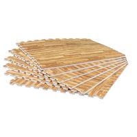 Schutzmattenset mit acht Teilen - Holzoptik